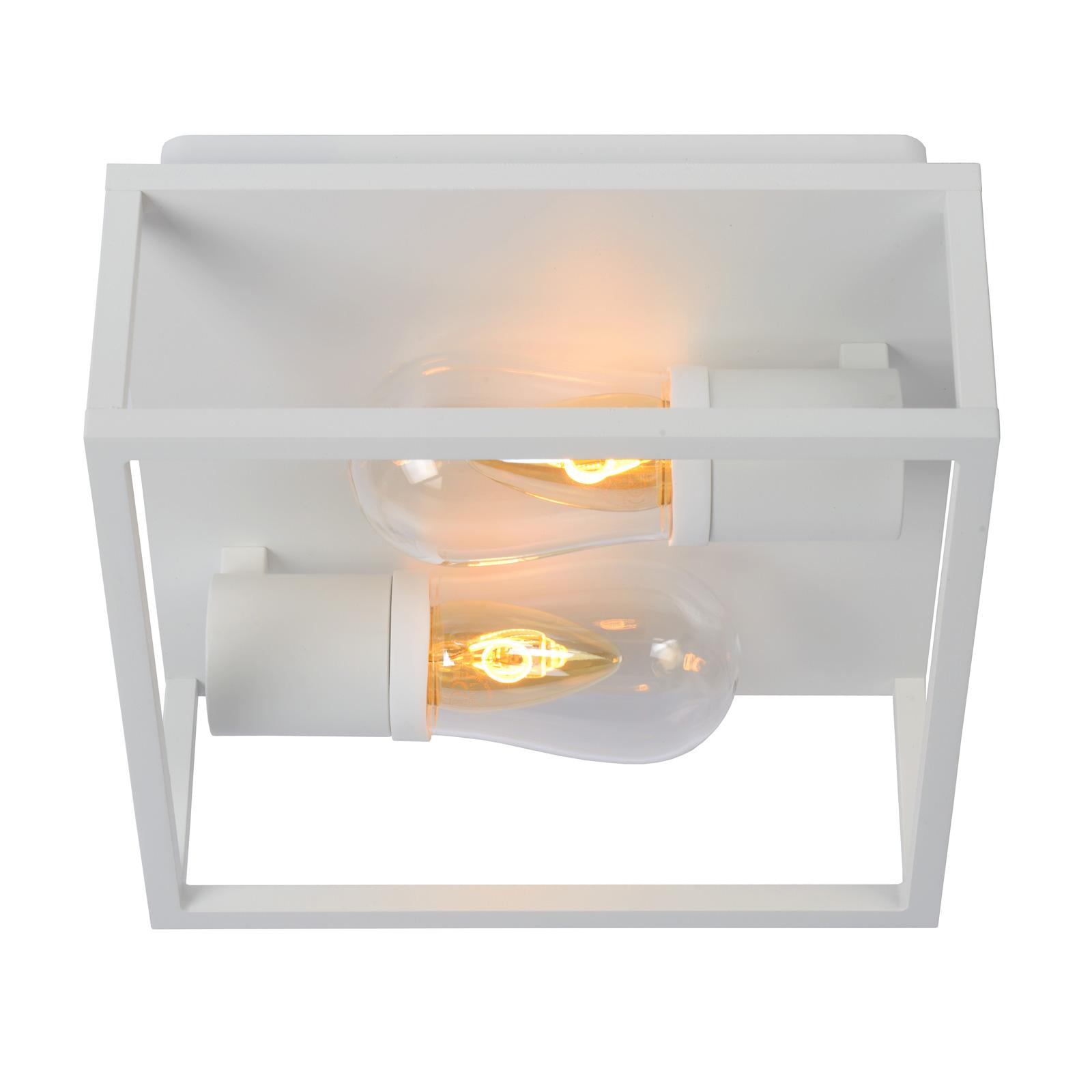 Lámpara de techo Carlyn, baño, 2 luces, blanco