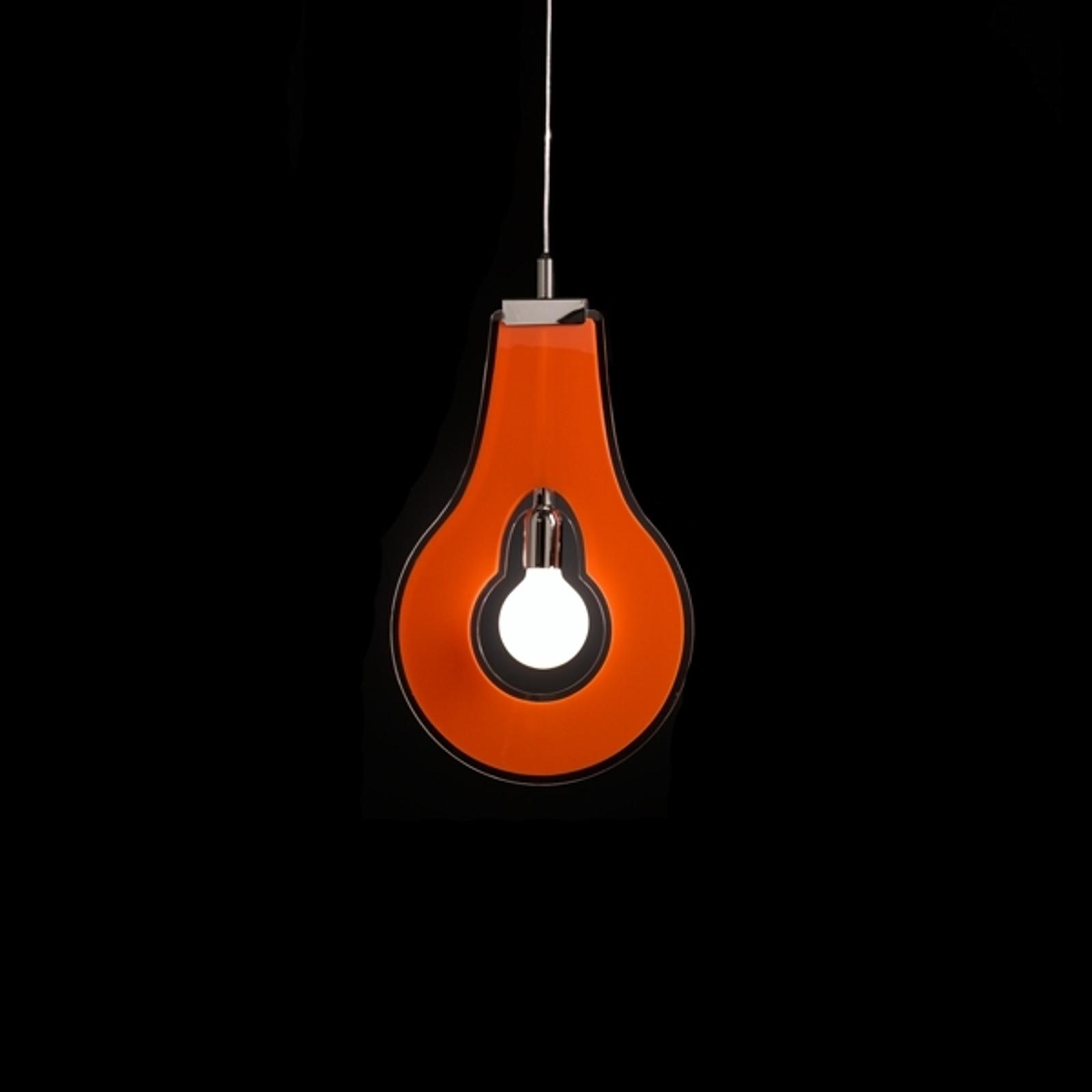 Ozdobna lampa wisząca Flat pomarańczowa