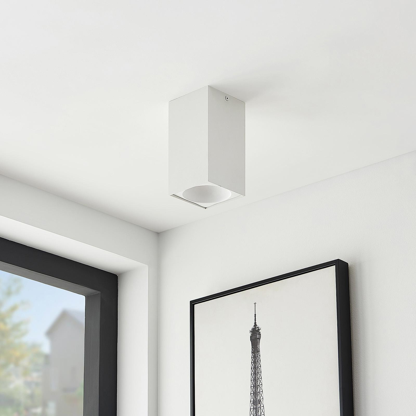 Arcchio Hinka plafondlamp, hoekig, 18 cm, wit