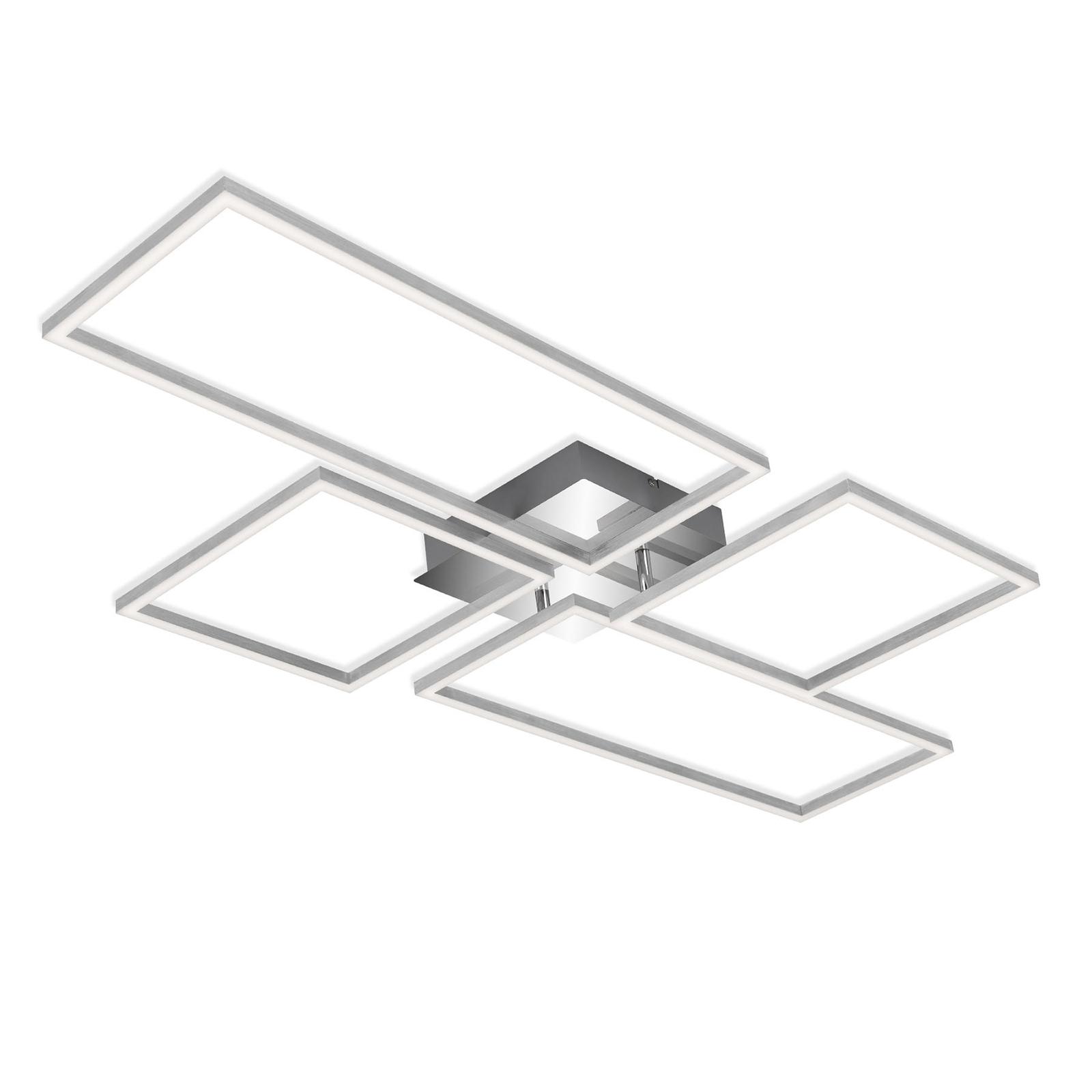 LED-Deckenlampe Frame CCT, chrom-alu, 110x54cm