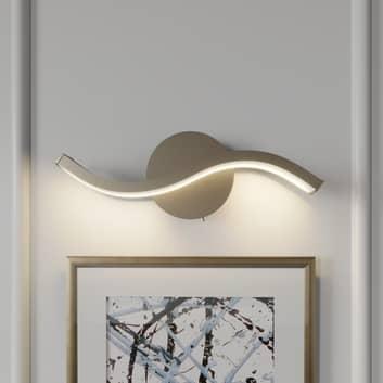 Lucande Mairia LED-vegglampe, bølgeform