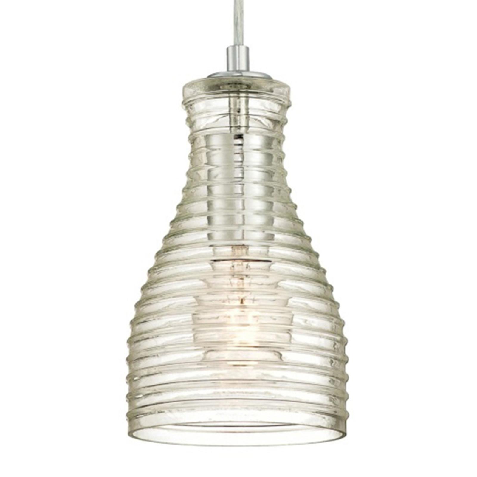 Westinghouse hanglamp 6329240, gegolfd glas