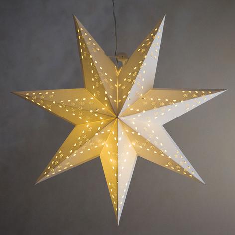 Lochmuster Flocken - LED-Stern Cellcandle weiß