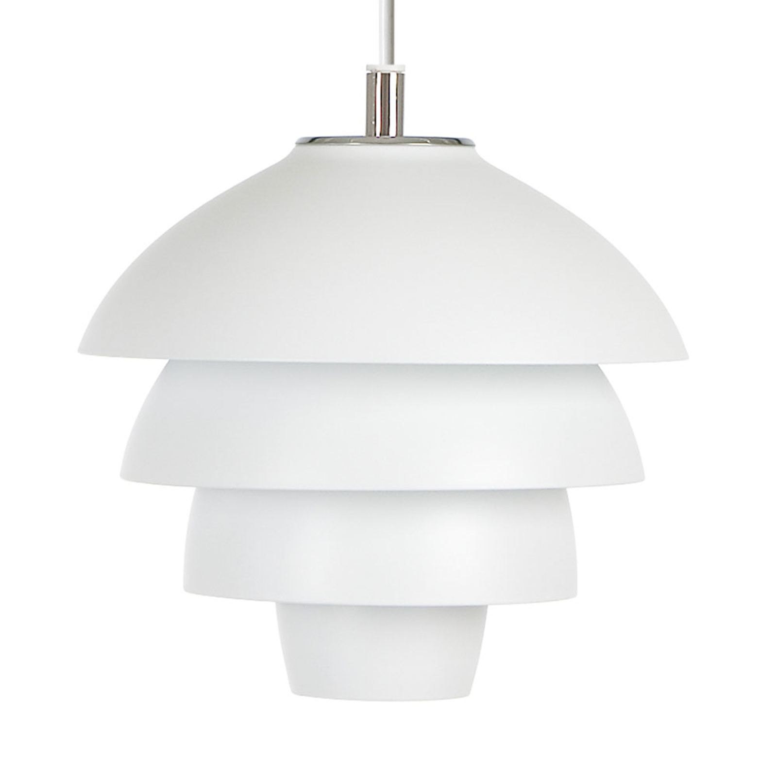Lampa wisząca Valencia, Ø 18 cm, biała, z wtyczką
