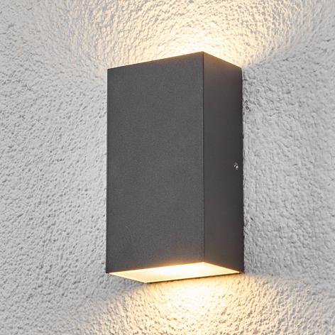 Hranaté LED venkovní nástěnné svítidlo Weerd