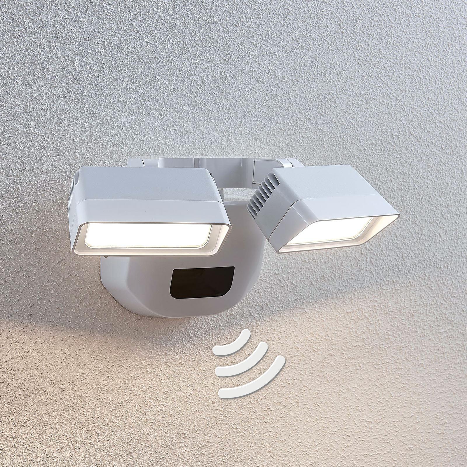 Zewn. lampa ścienna LED Nikoleta z czujn. 2-pkt.