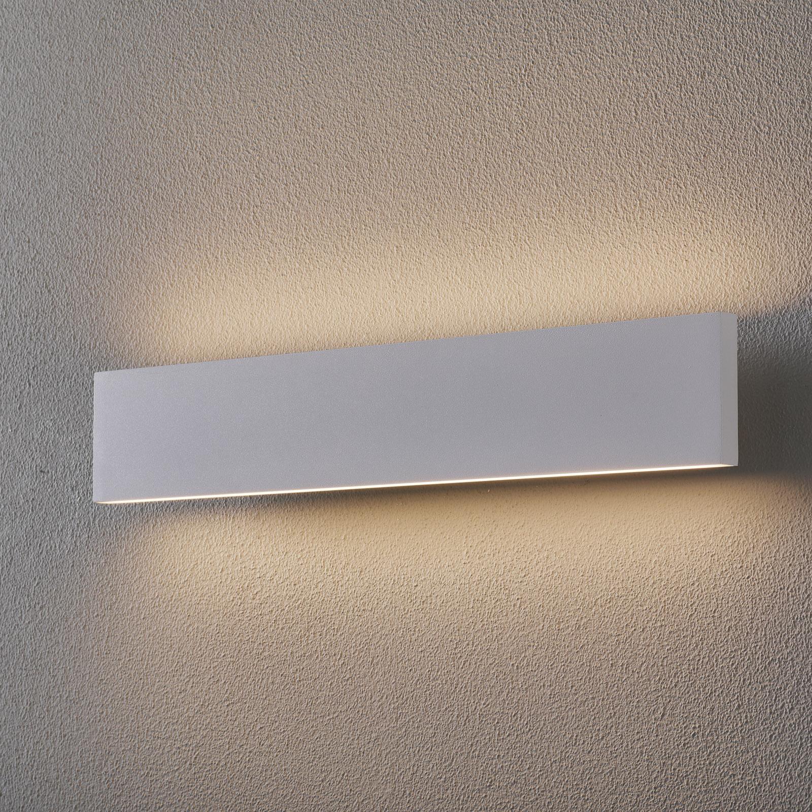 Applique LED Concha 47cm, blanche