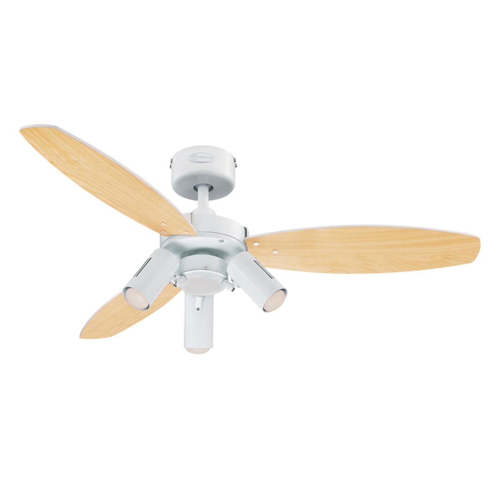 Westinghouse Jet Plus ventilateur avec 3 lampes