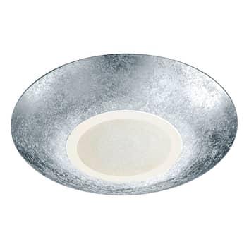 Srebrna lampa sufitowa LED Chiros – okrągła