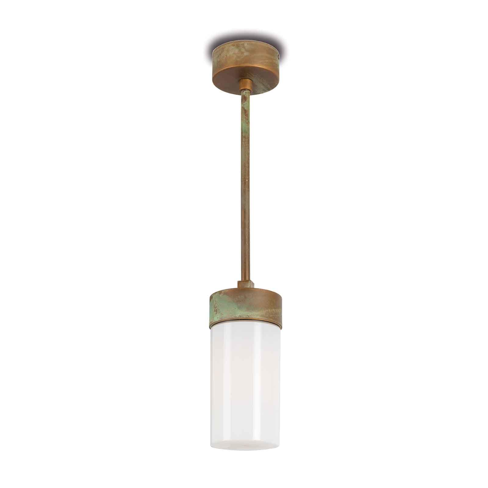 Lampa wisząca Silindar 3358 mosiądz antyk/opal