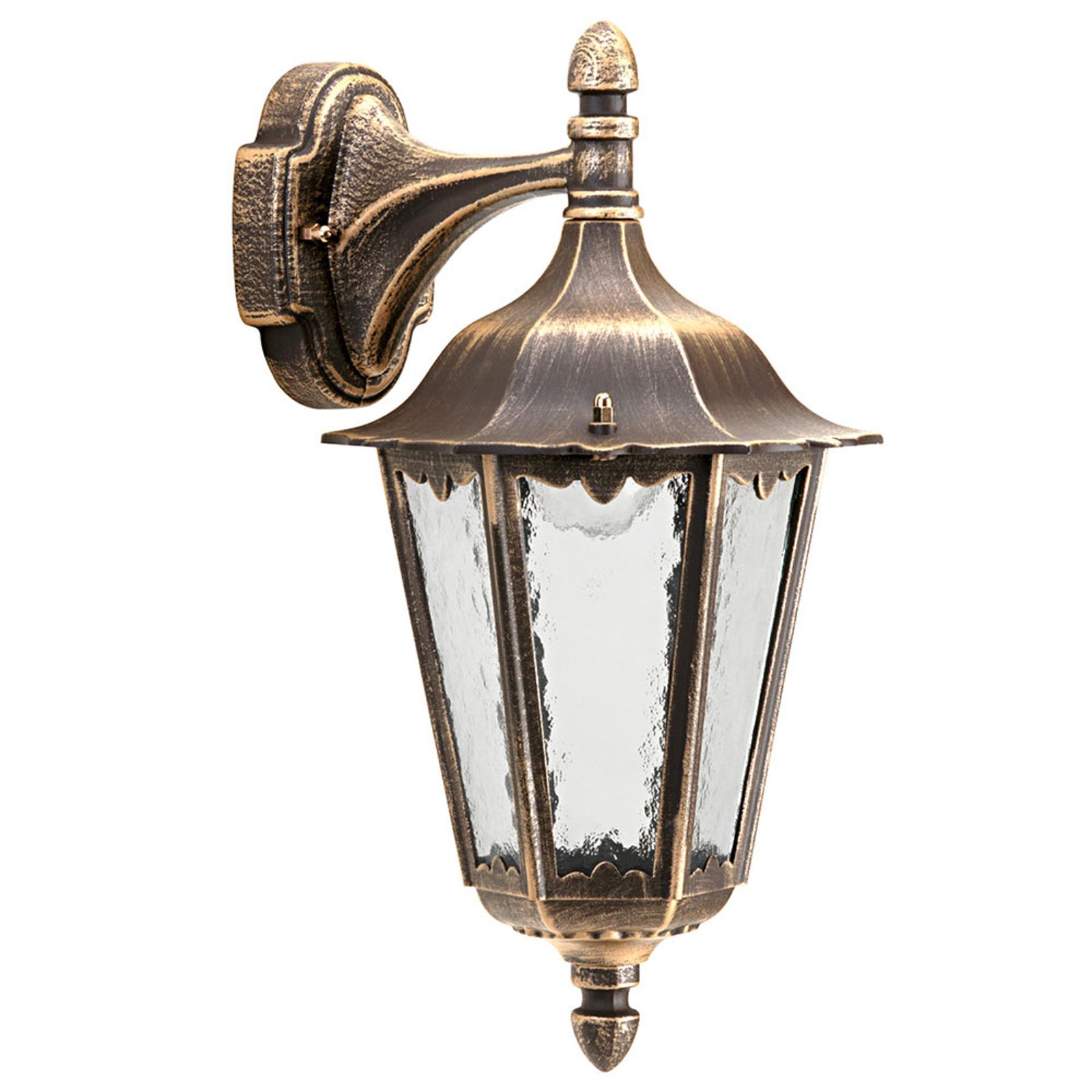 Venkovní nástěnné svítidlo 1819 dolní, hnědá-mosaz