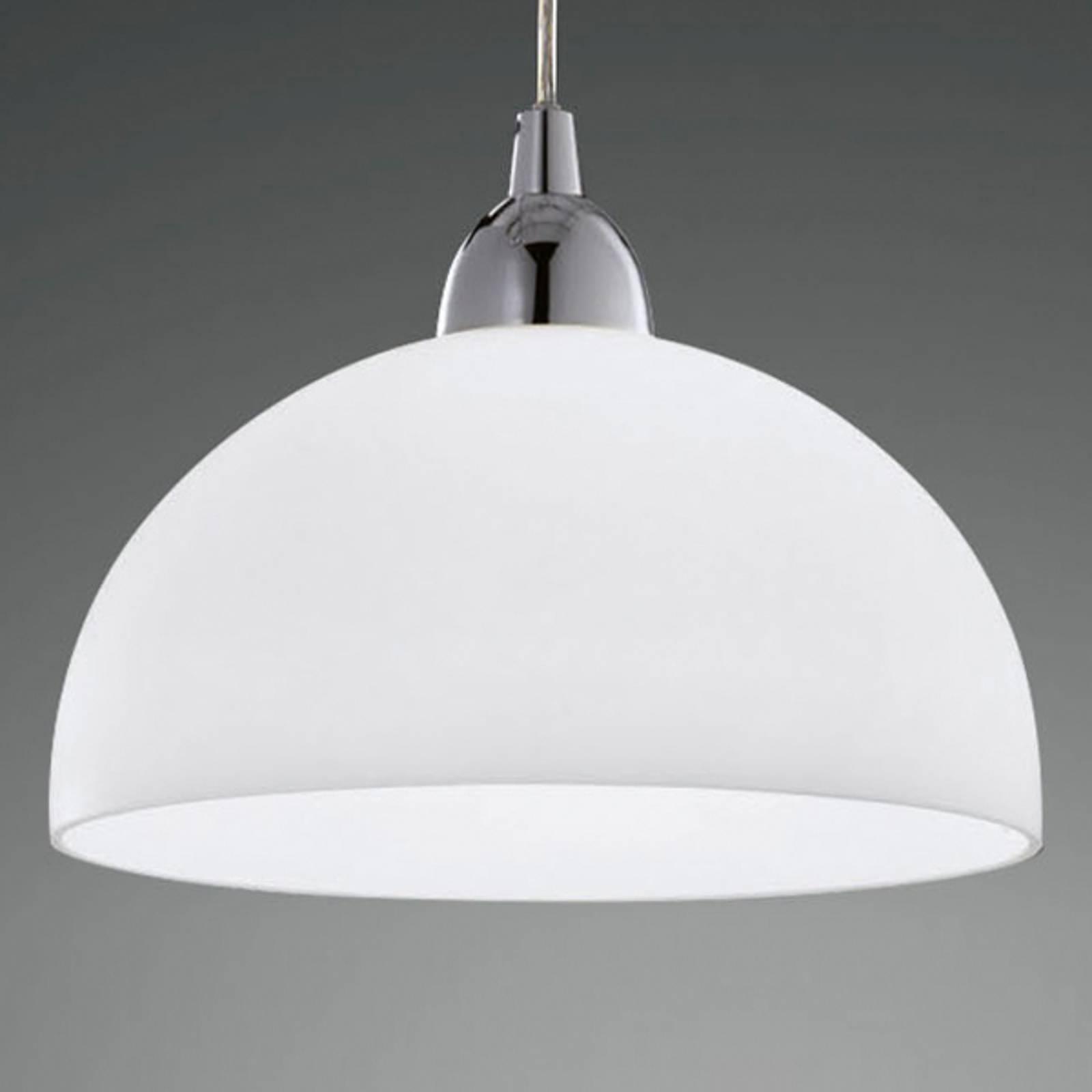 Lampa wisząca Nice, szklany klosz, biała, 26cm