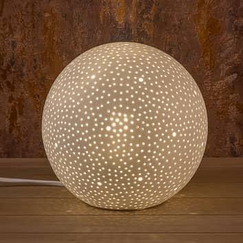 Dekoleuchte Sternenhimmel aus Porzellan