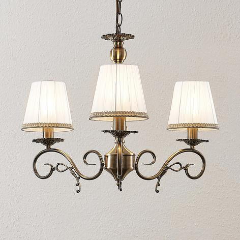 Lindby Finnick lustr, třížárovkový, mosaz