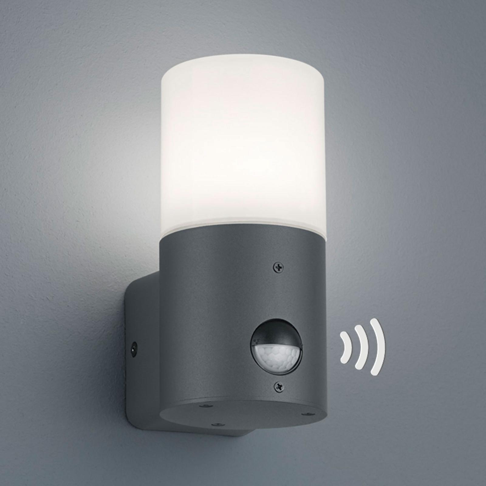 Lille udendørsvæglampe Hoosic med bevægelsessensor