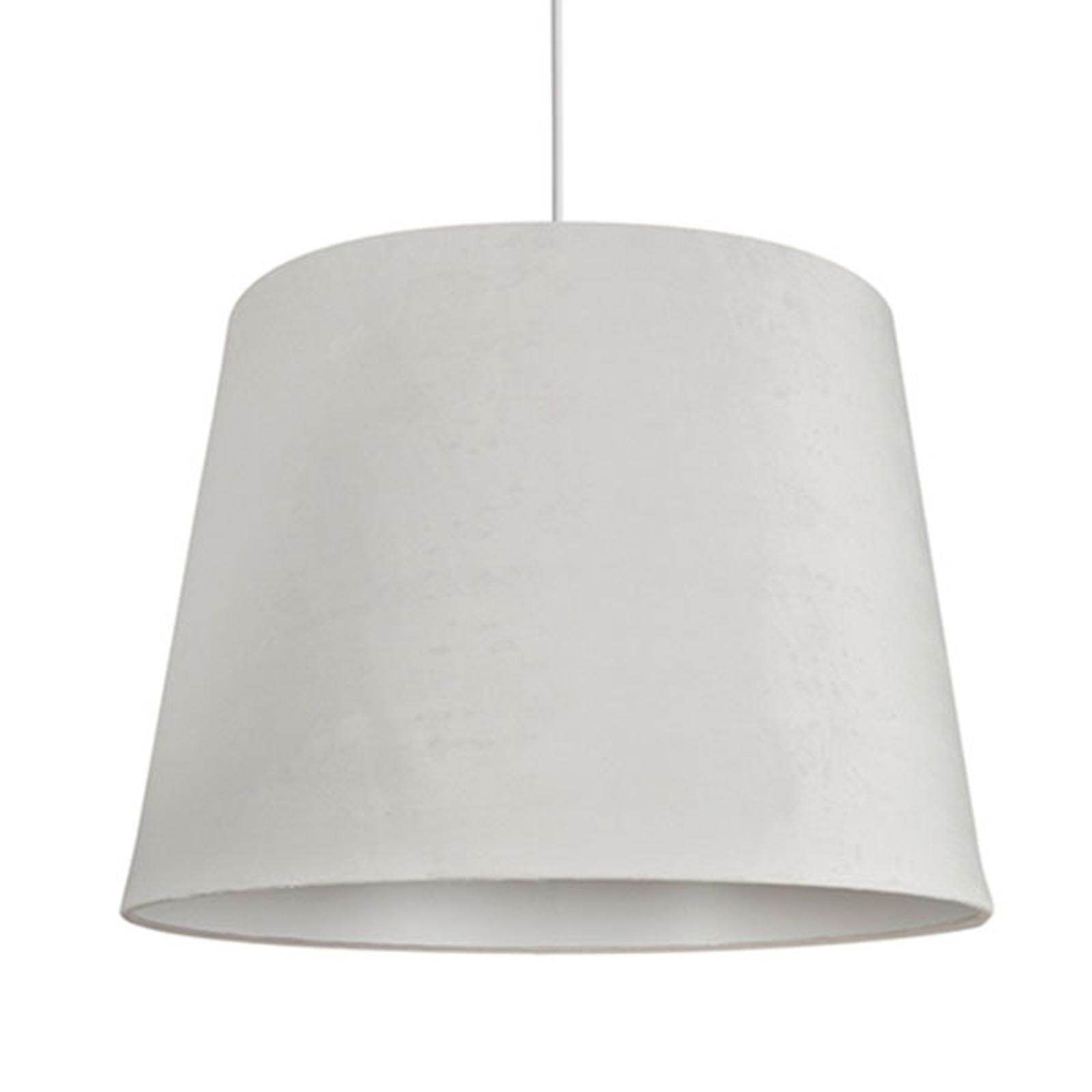 Hengelampe Cone M fløyelsskjerm, Ø 46,5 cm, hvit