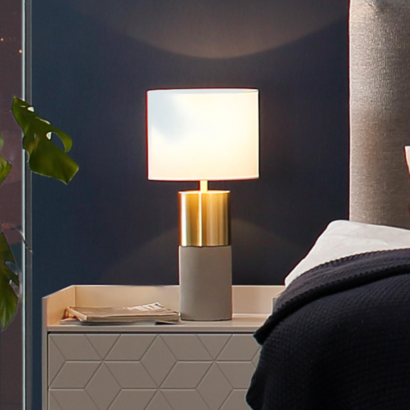 Villeroy & Boch Turin bordlampe, betongstil 33 cm