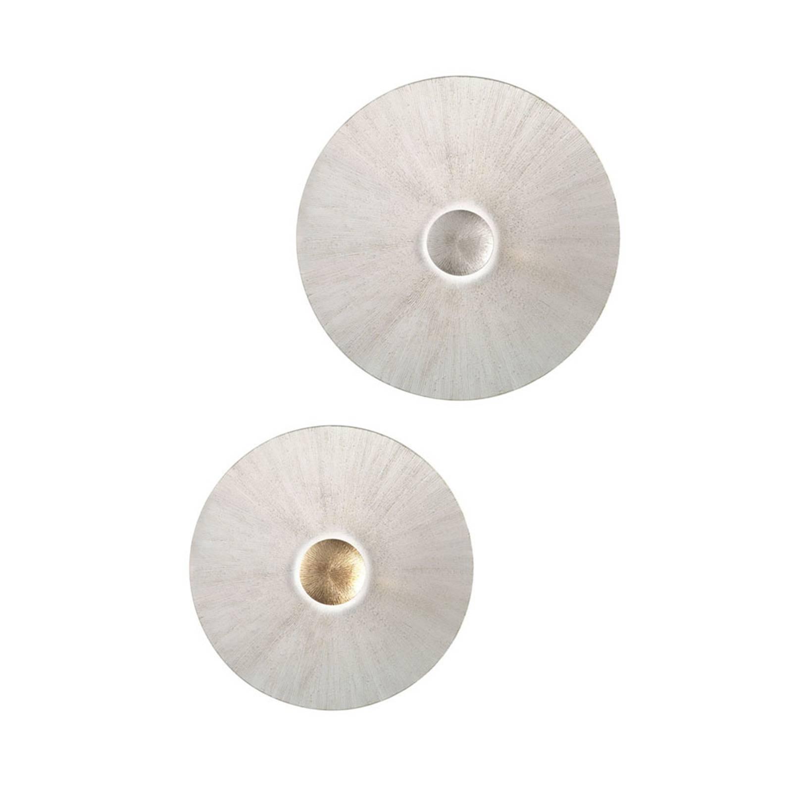 Applique Moon Sun, Ø 62cm, blanche