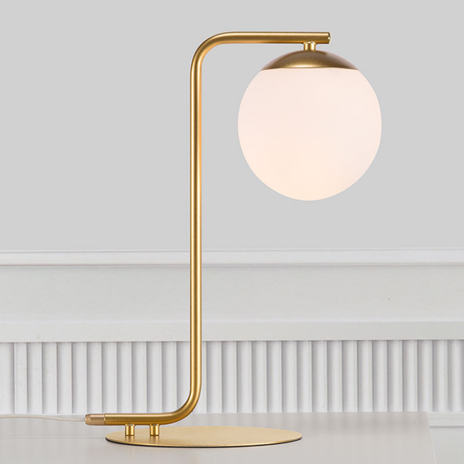 Lampa stołowa Grant, mosiądz
