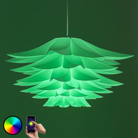 Lindby Smart lampa wisząca Lavinja żarówka LED RGB
