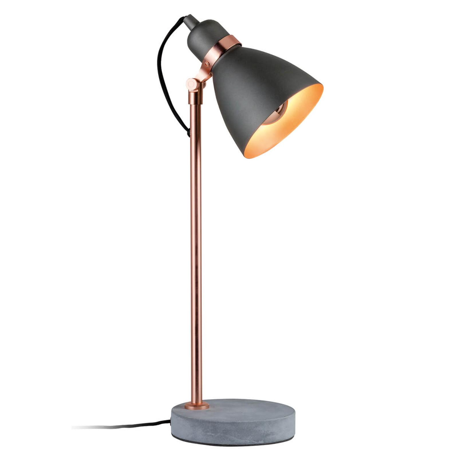 Modern bordslampa Orm med betongfot