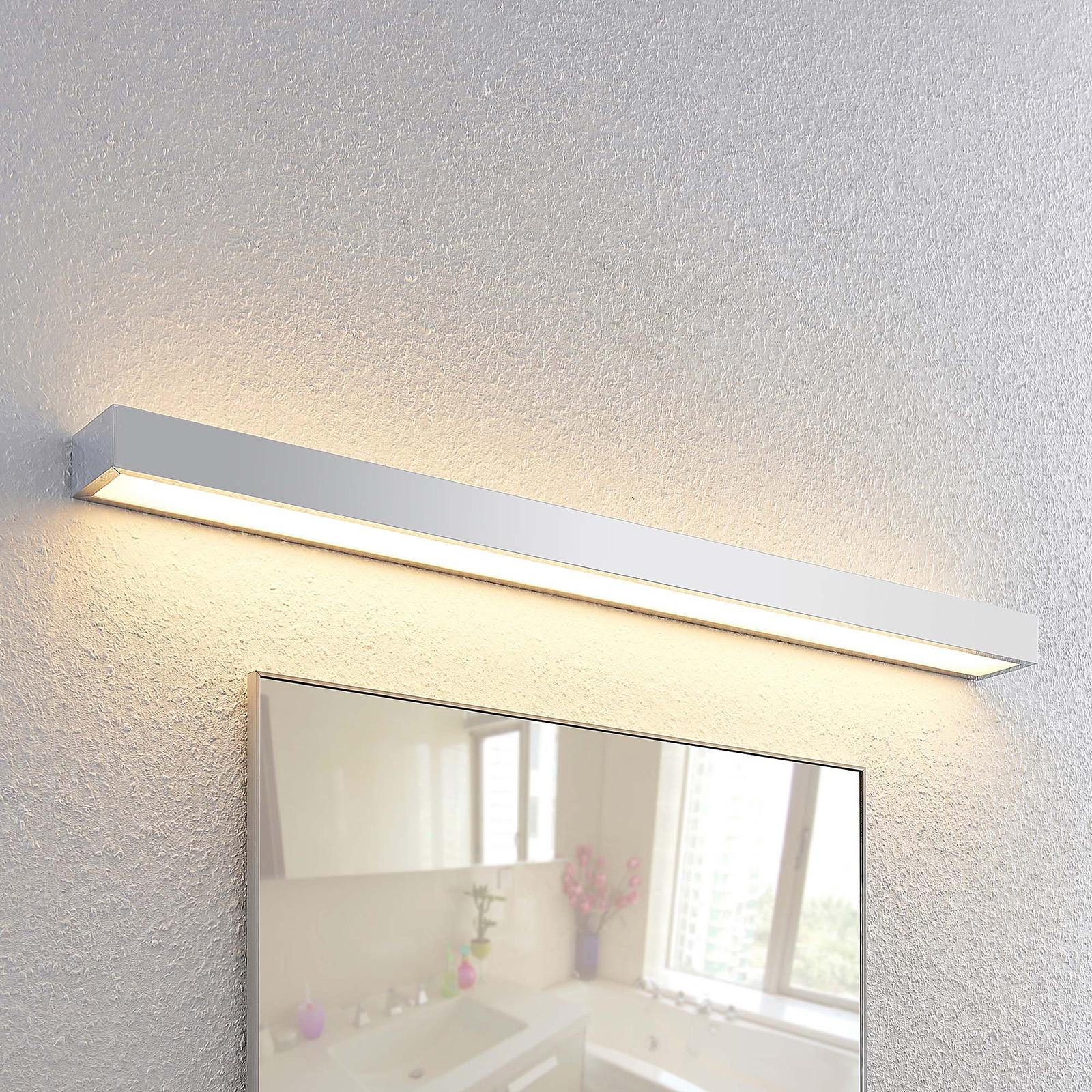 Lindby Layan LED-Bad-Wandleuchte, chrom, 90 cm