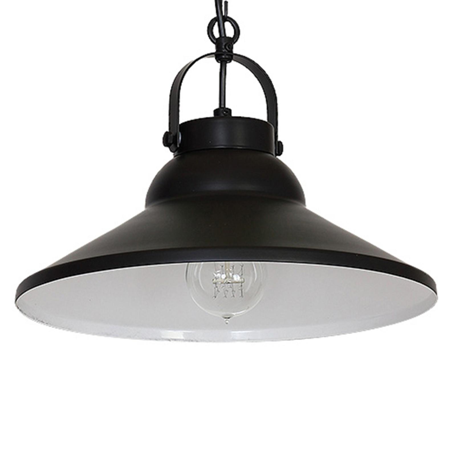 Lampa wisząca Iron, czarna/biała