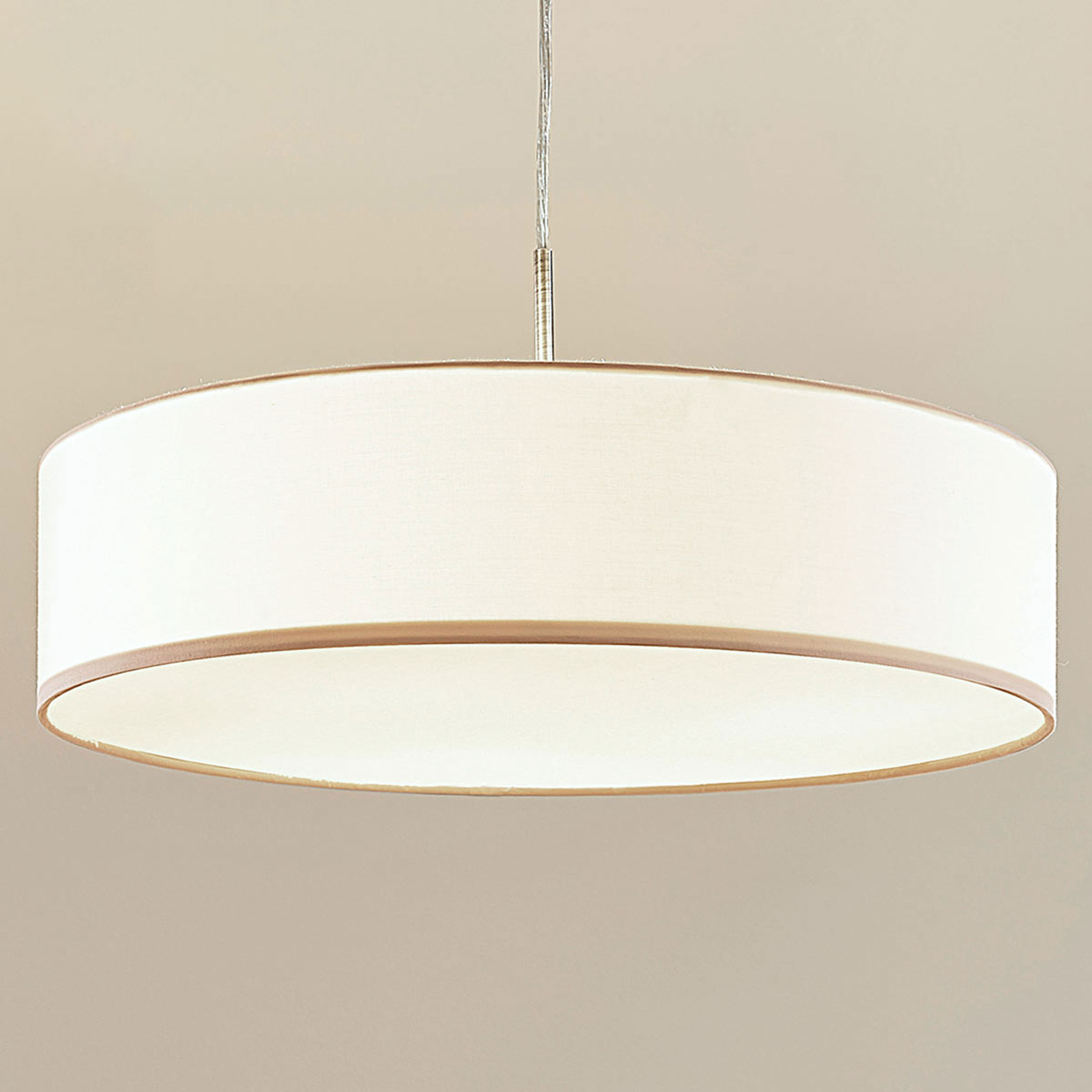 Hängeleuchte Sebatin mit E27-LED, 50 cm, creme