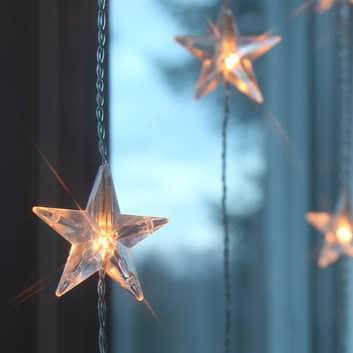 Dix brins - rideau lumineux LED Star 20 lampes