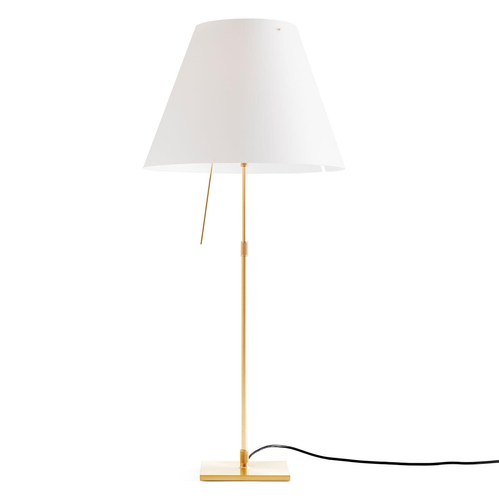 Luceplan Costanza Tischlampe D13 messing/weiß