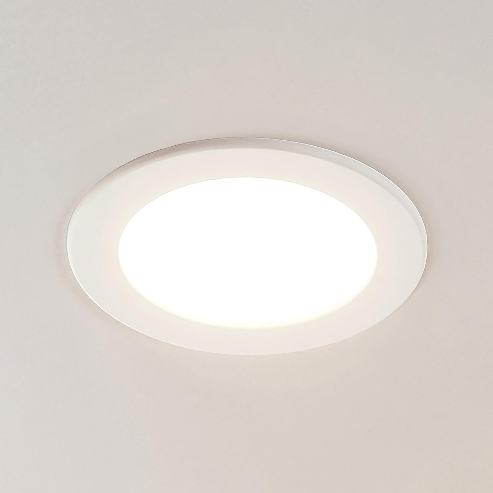 LED-innfelt spot Joki, hvit, 3000K rund 17cm