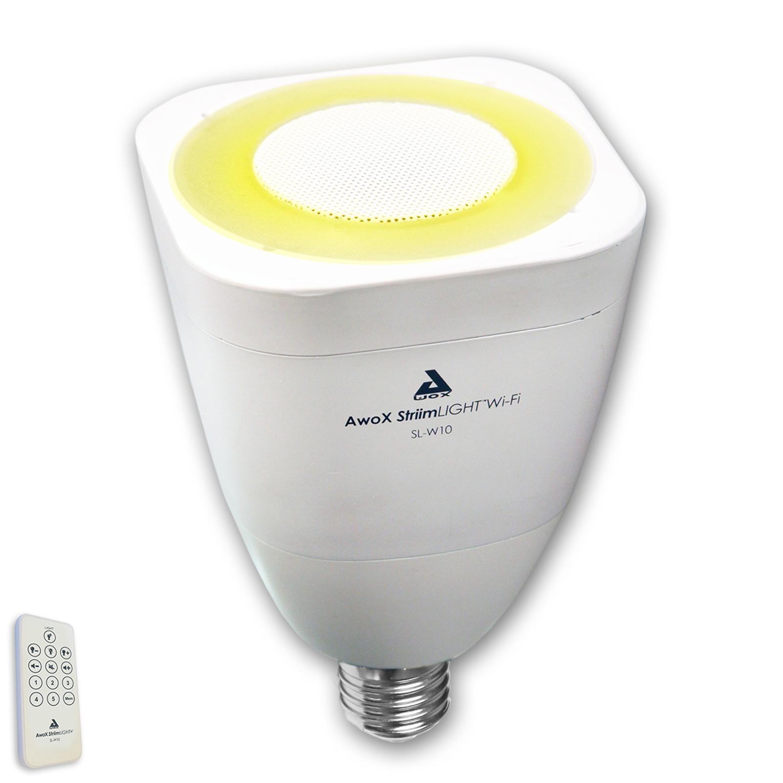 AwoX StriimLIGHT WiFi-White LED lampadina E27, 7 W