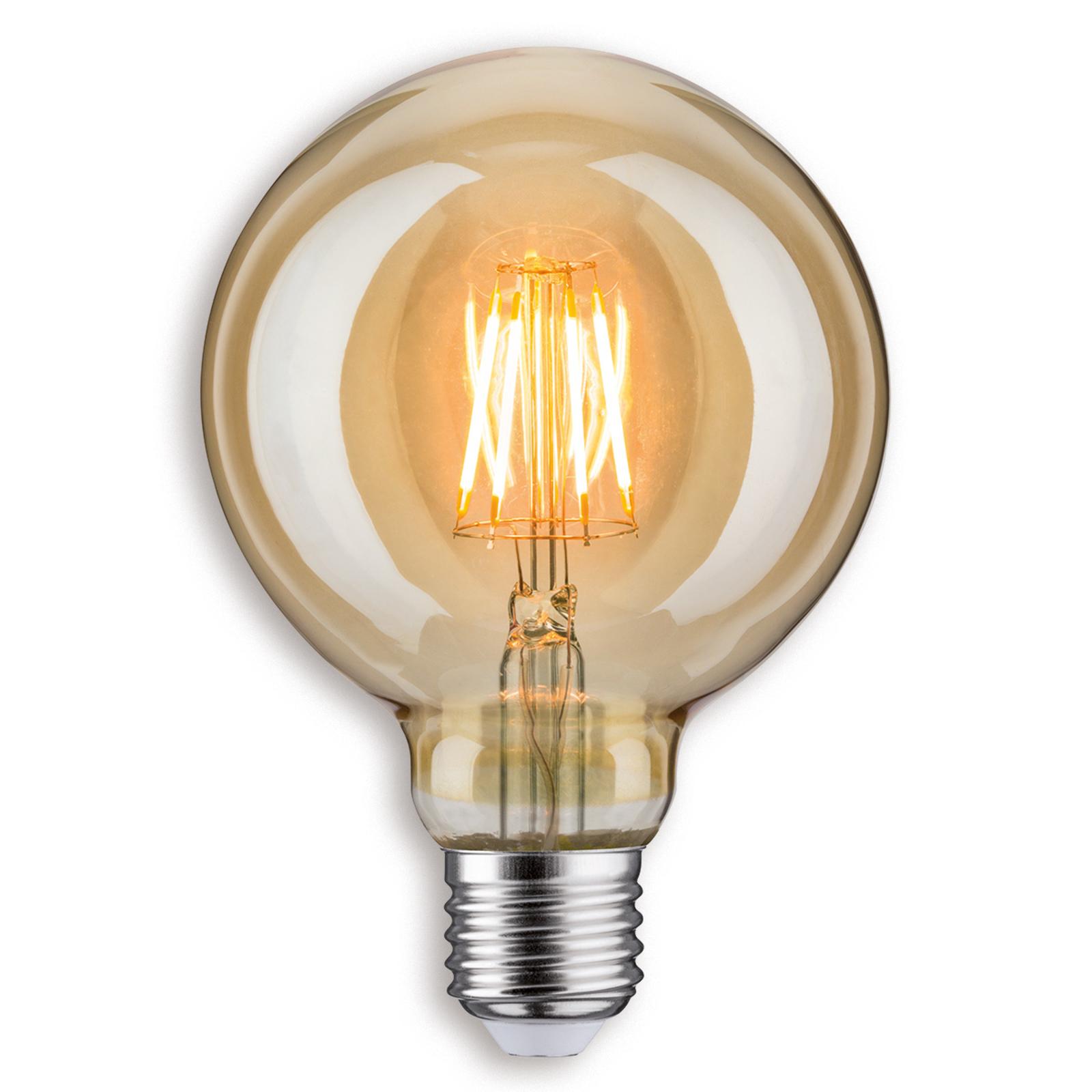 E27 6,5W 817 kulista żarówka LED G95, złota