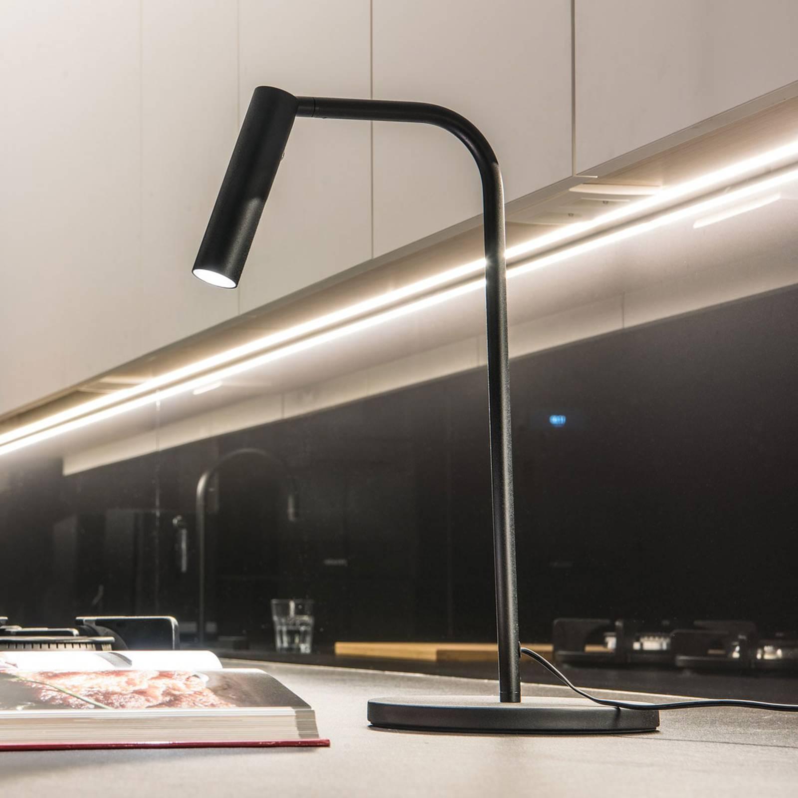 SLV Karpo LED-Tischleuchte, mit Dimmer, schwarz