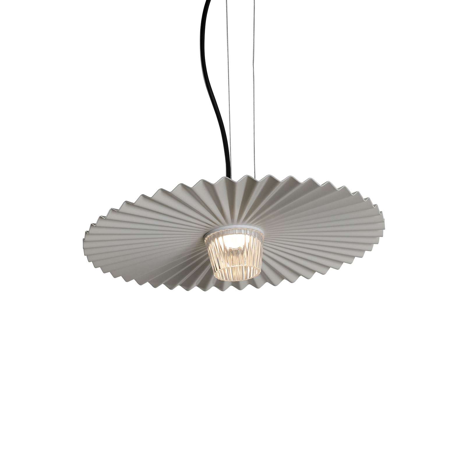 Karman Gonzaga suspension LED, Ø 42 cm, blanche