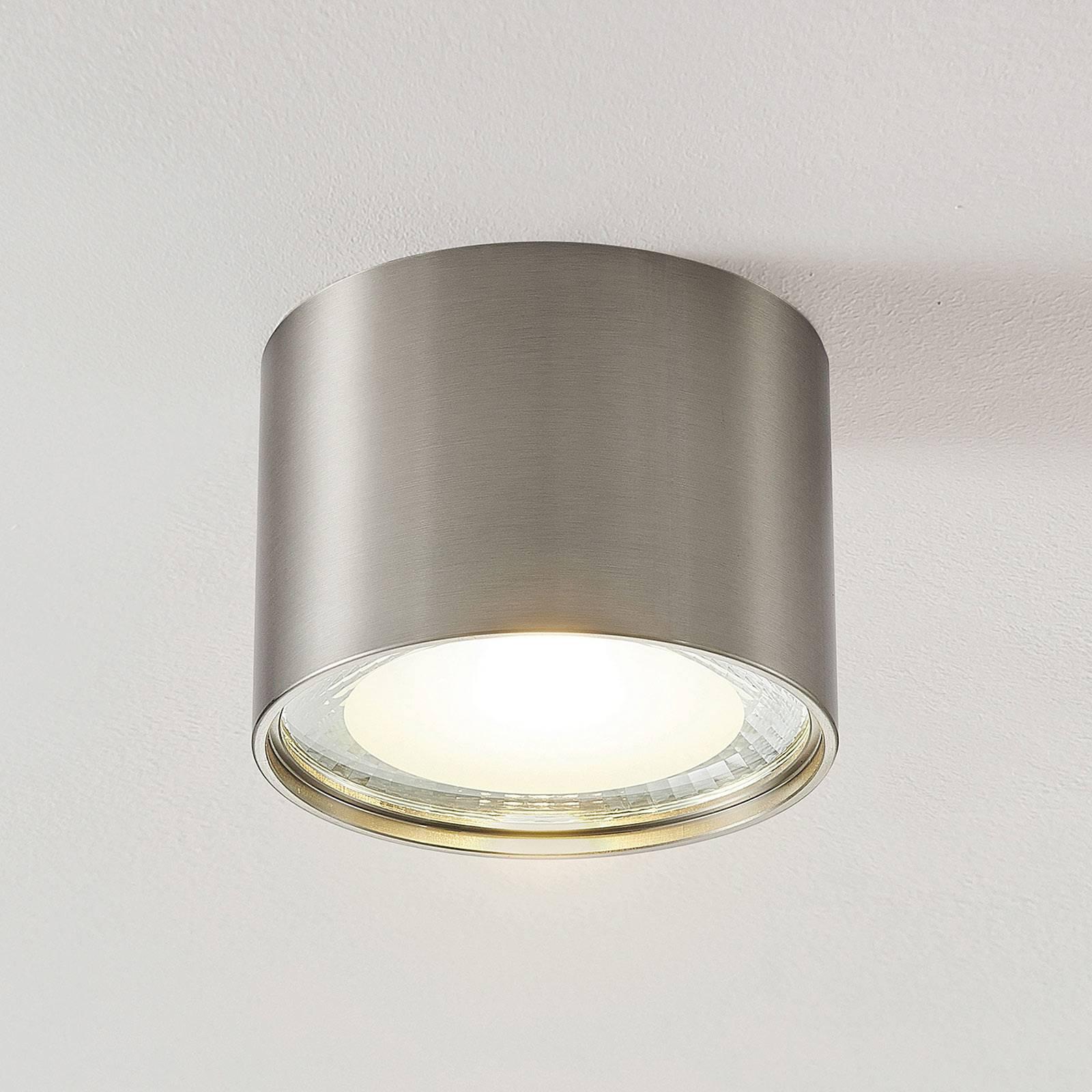LED downlight Meera, rond, gesatineerd nikkel