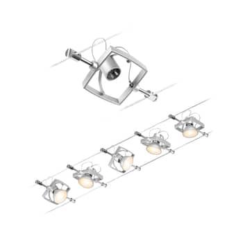 Paulmann Wire Mac II vajersystem, 5 lampor, 5 m
