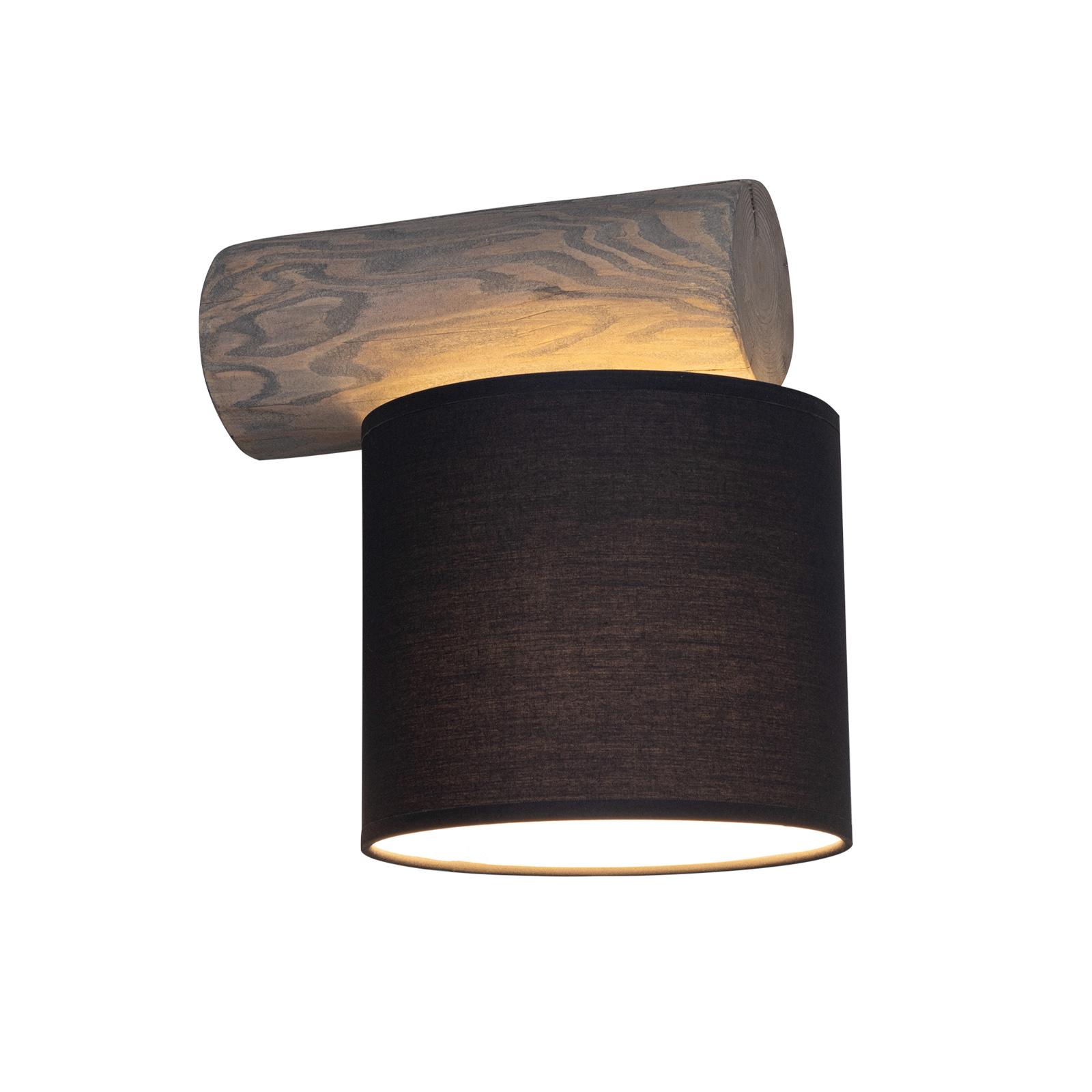 Pino Simpel væglampe, antracit skærm, gråt træ
