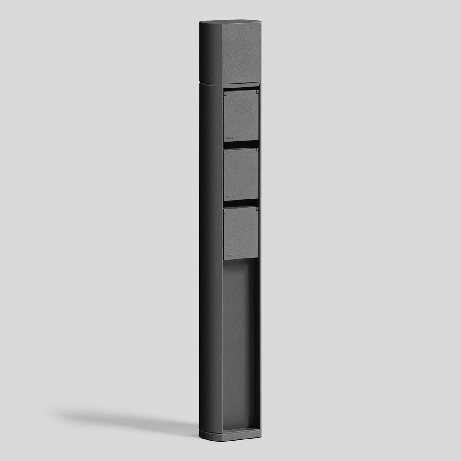 BEGA 71096 Außensteckdose smart, Erdstück, 3-fach