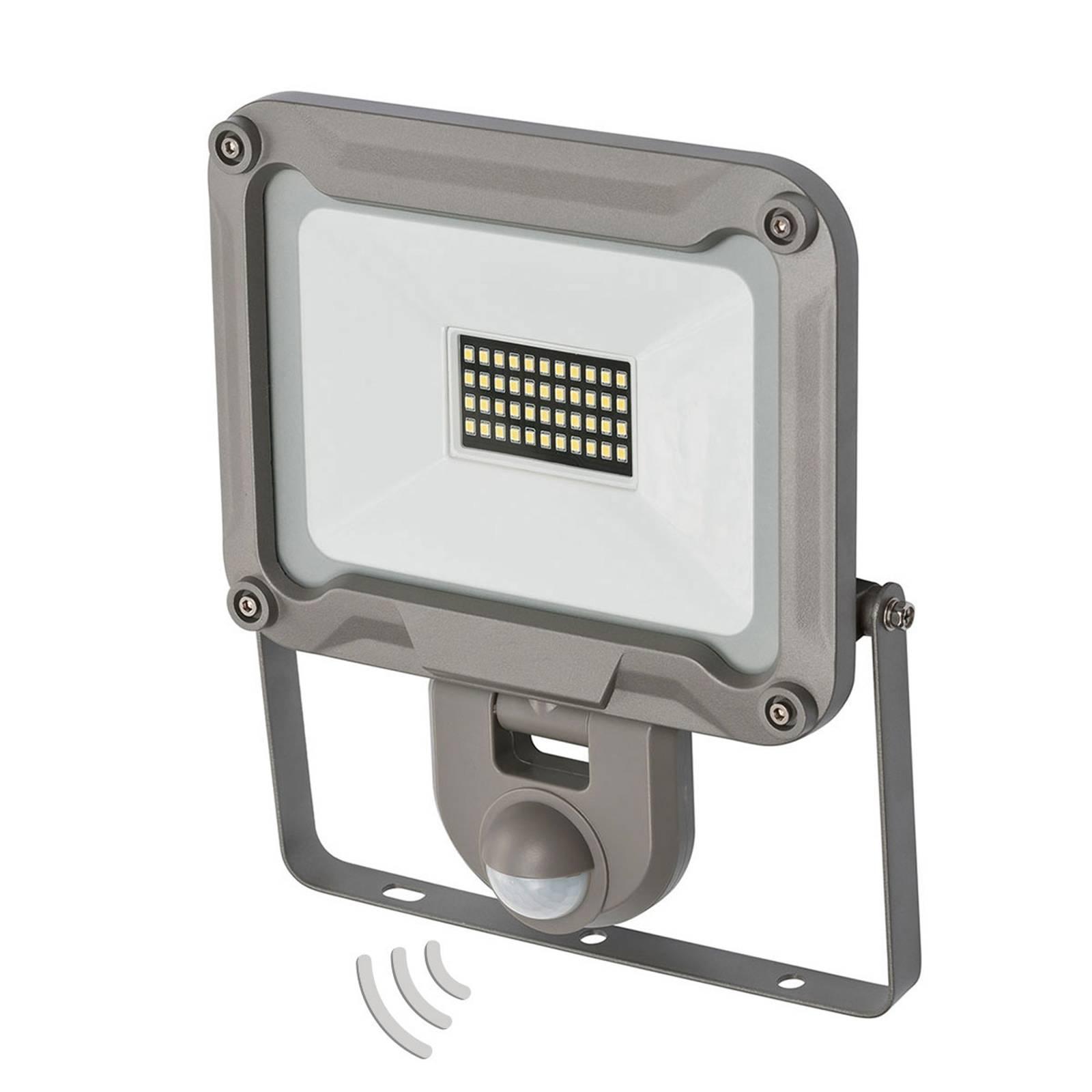 LED buitenspot Jaro met sensor IP44 30W