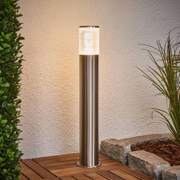 Sokkellamp Belen van roestvrij staal met LED's