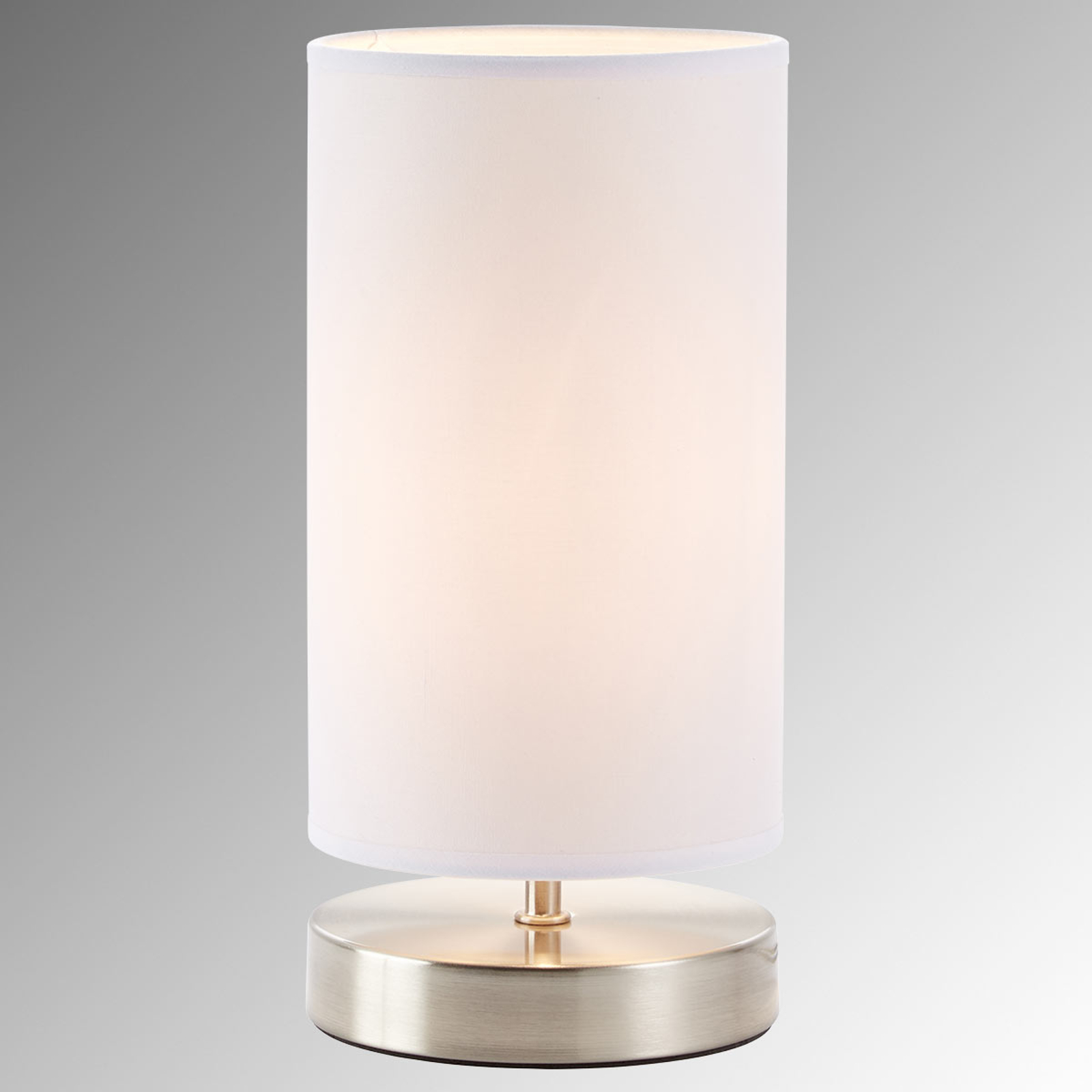 White fabric table lamp Claire_1508857_1