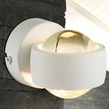 Liten, vit LED-vägglampa Randi