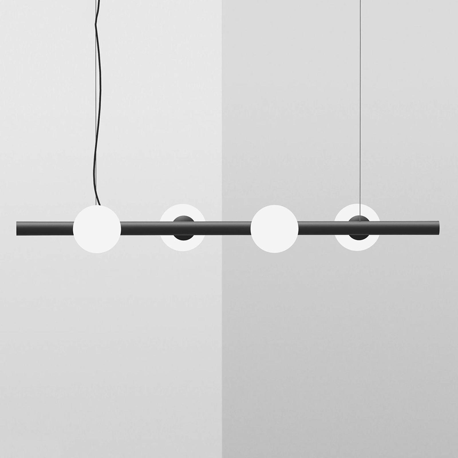 Riippuvalaisin Tin Tin, 4-lamppuinen, musta