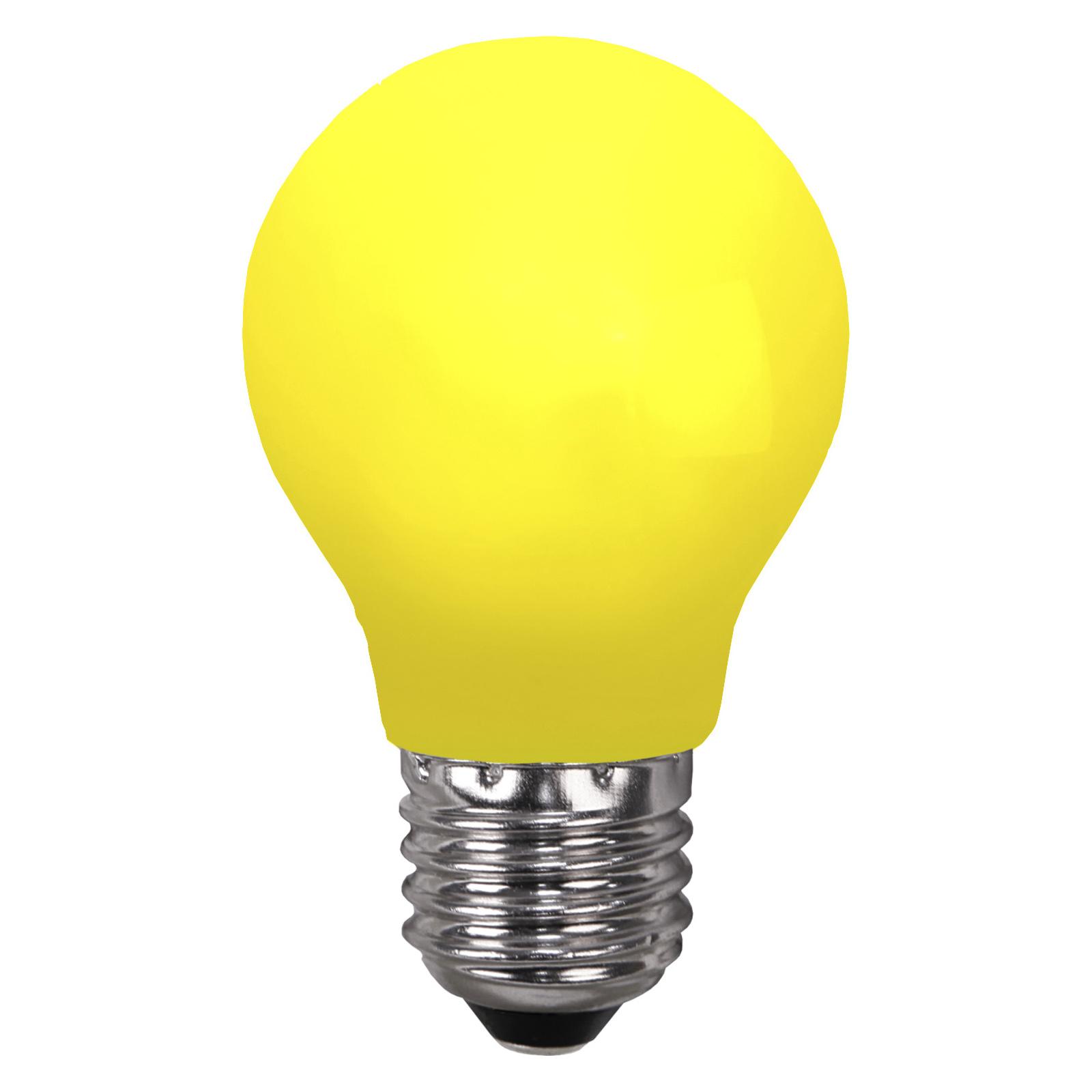 LED-Lampe E27 für Lichterketten, bruchfest, gelb