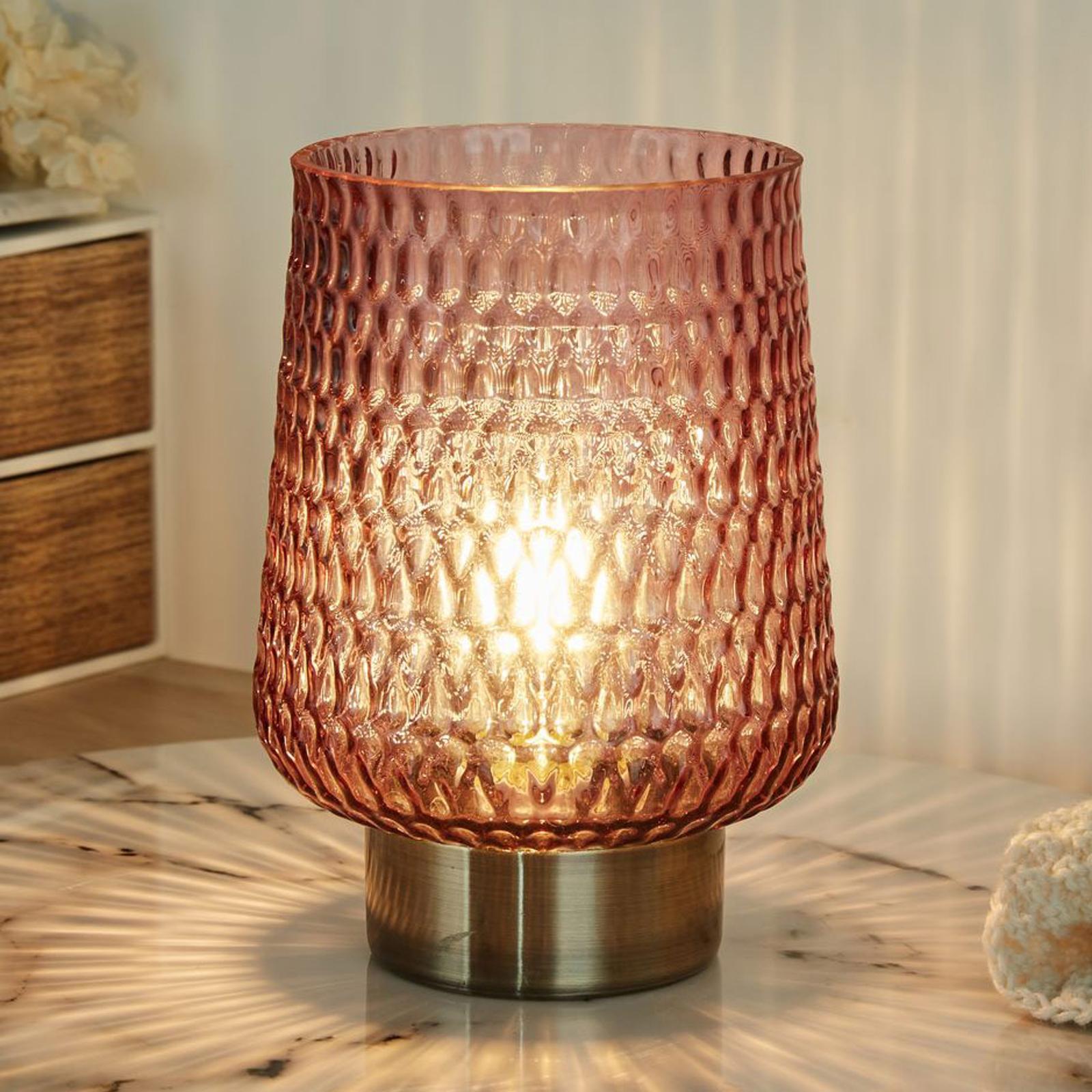 Pauleen Rose Glamour LED-bordlampe, batteri