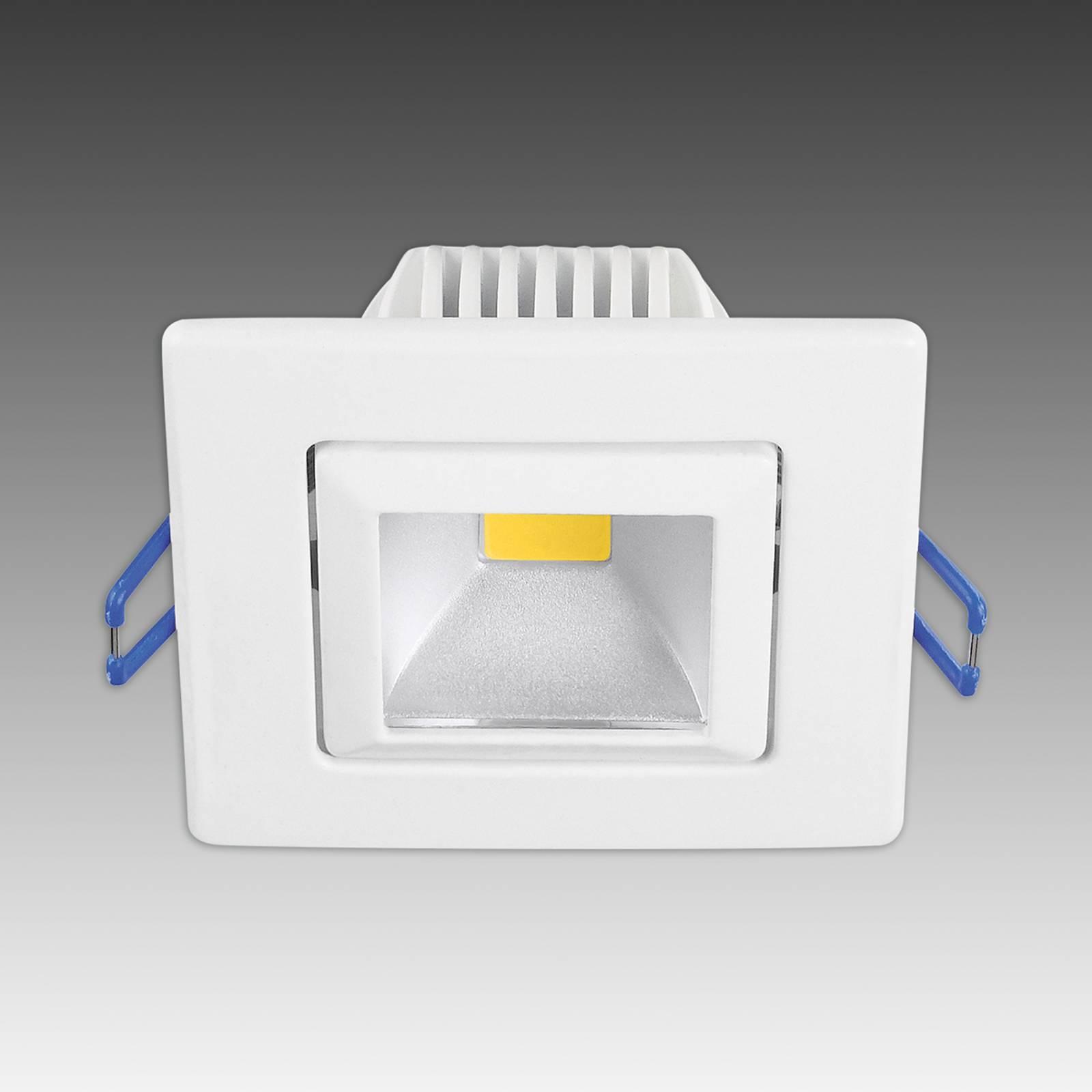 Modny reflektor wpuszczany LED Pound, biały