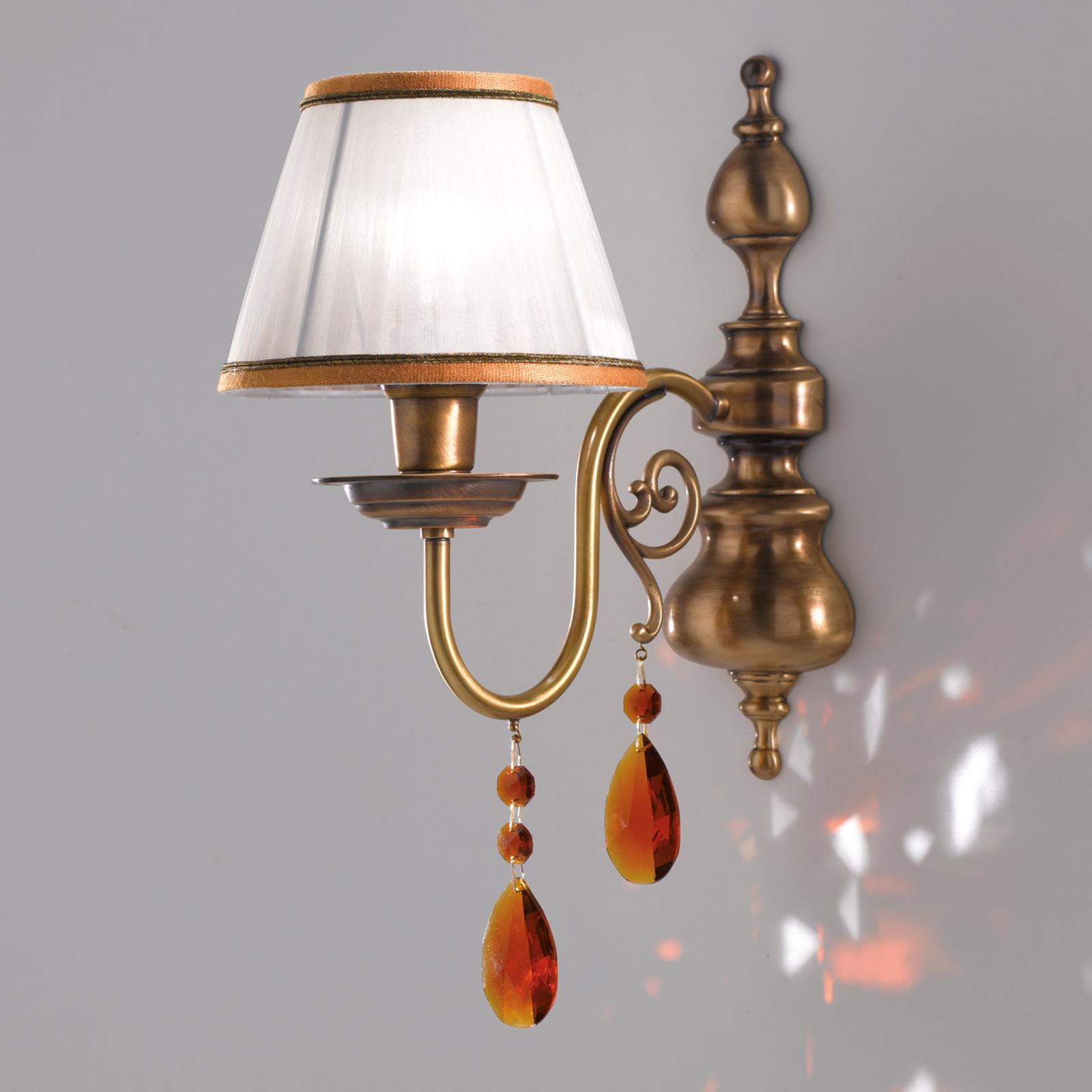 Crystal - rijk gedecoreerde textiele wandlamp