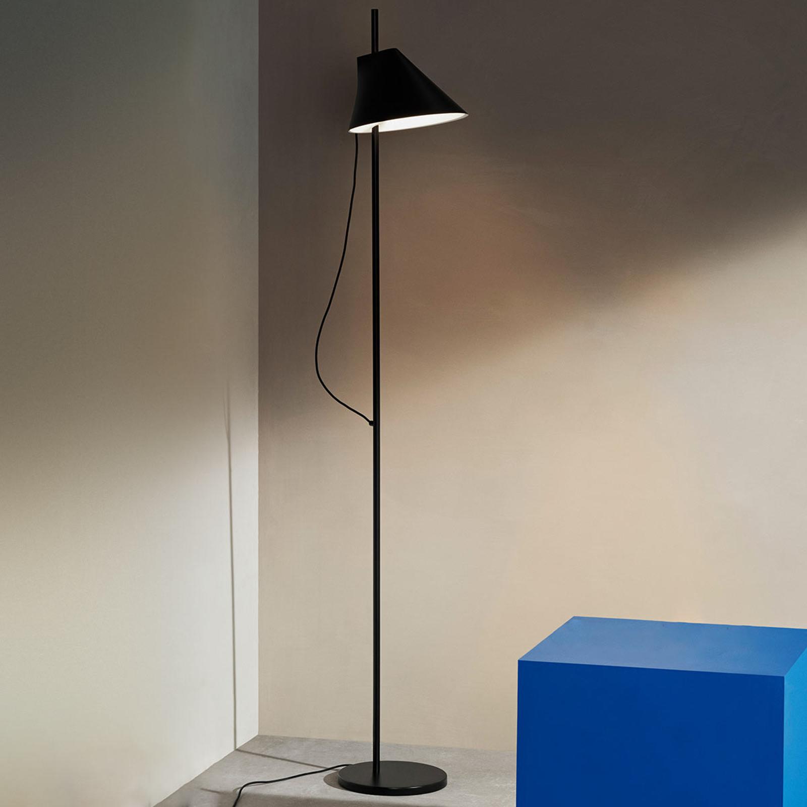 Dimbare designer LED tafellamp Yuh in zwart