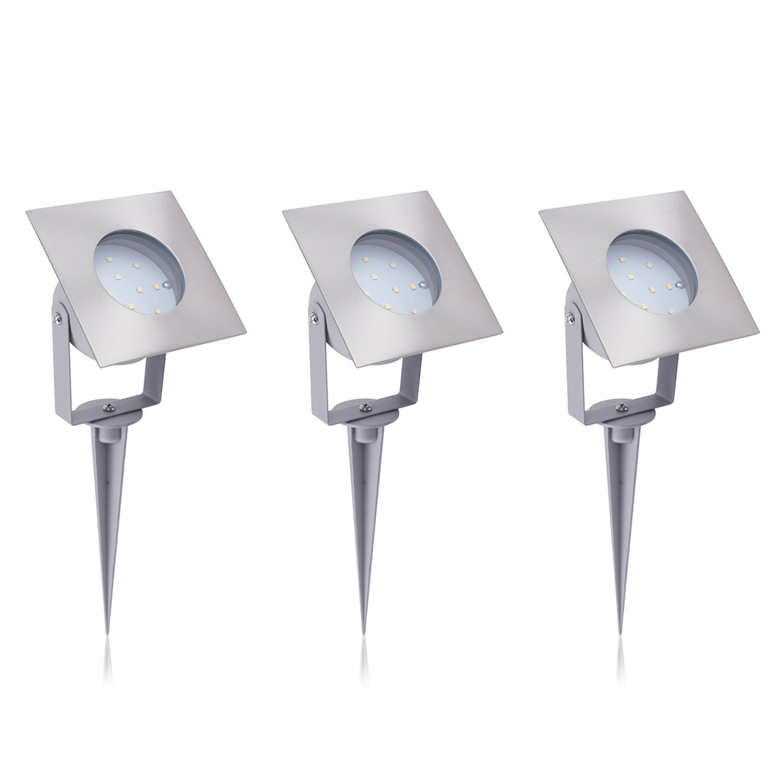 LED buitenspot Todi in 3per set